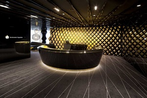 black and gold in interior design