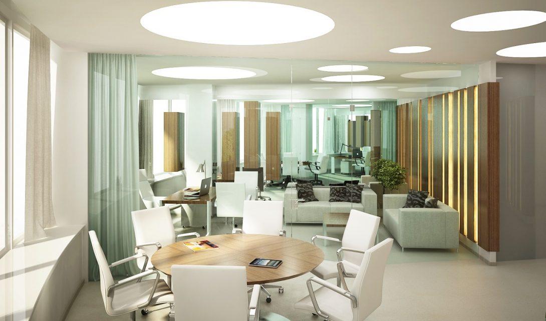 Дизайн интерьера офиса в БК Мост Сити