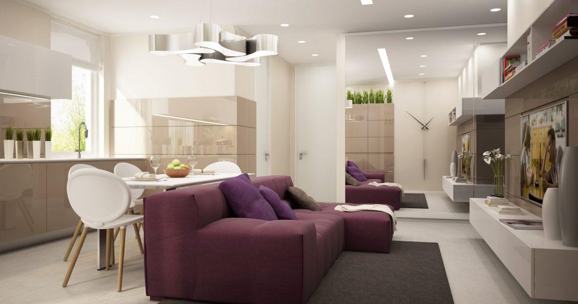 Дизайн интерьера квартиры в ЖК IQ House 85м2