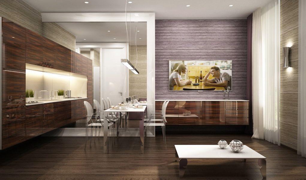 Дизайн интерьера квартиры в ЖК Каскад Плаза 52м2