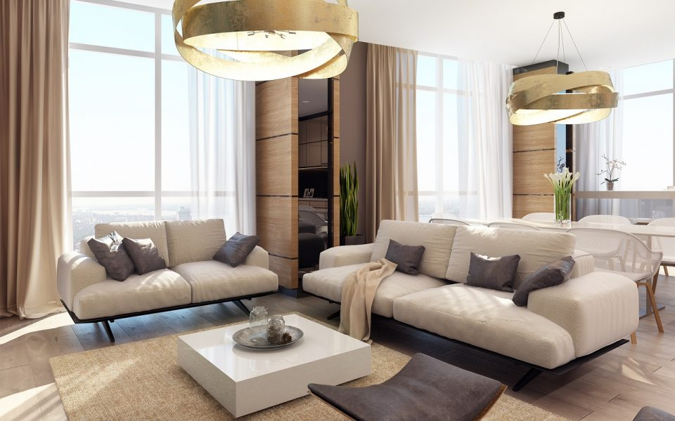 Дизайн интерьера квартиры в ЖК Панорама 140м2