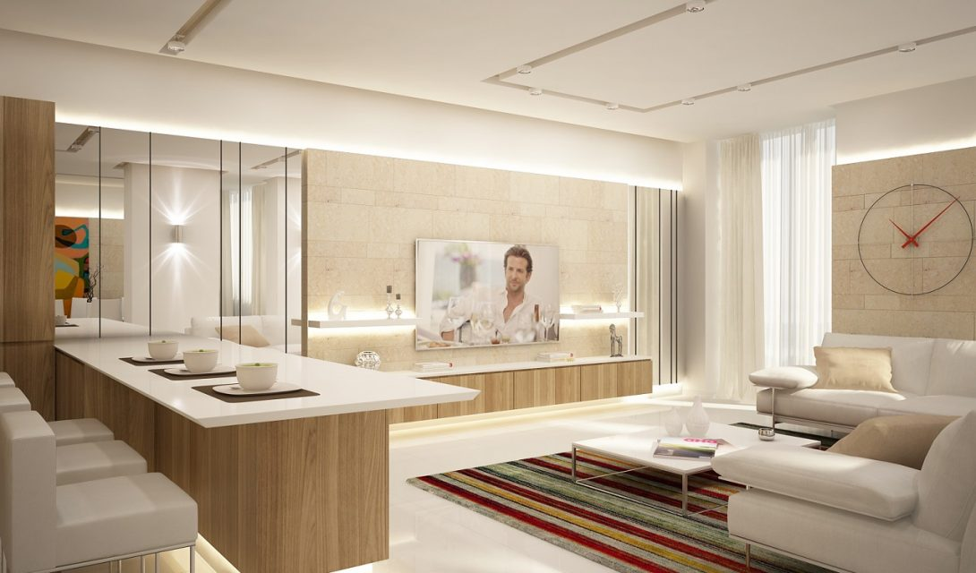 Дизайн интерьера квартиры в ЖК Панорама 175м2
