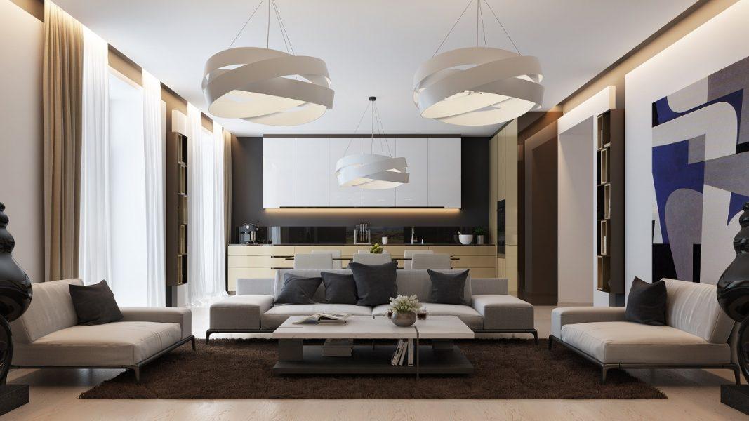Дизайн интерьера квартиры в ЖК Люкс Волна Запорожье 140м2