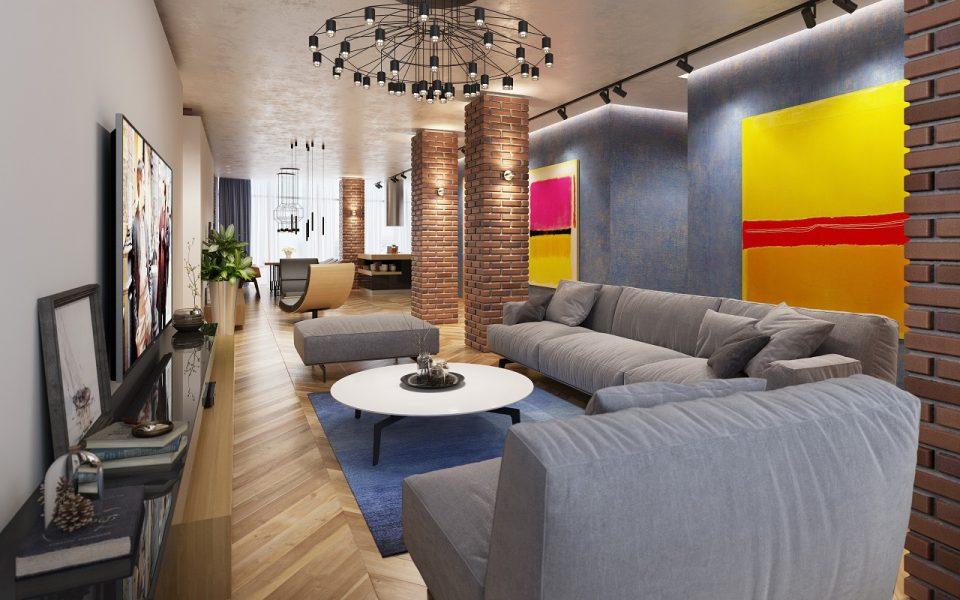 Дизайн интерьера квартиры в ЖК Красный Камень Мариуполь 210м2