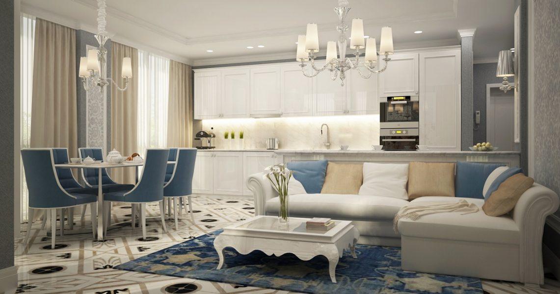 Дизайн интерьера квартиры в ЖК Фестивальный-2 94м2